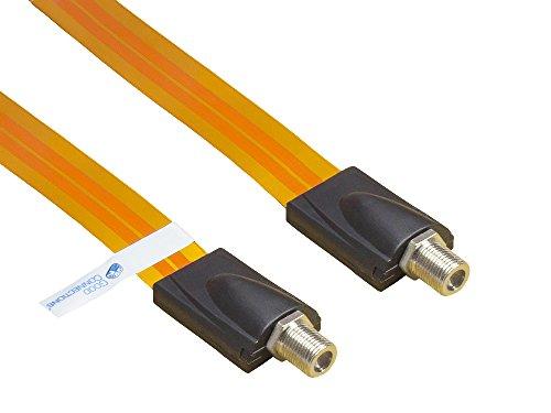 Good Connections® SAT Tür-/Fensterdurchführung - High-Quality, extrem flach - F-Kupplung an F-Kupplung - Gesamtlänge inkl. Stecker 53,5 cm, flexible Länge 44,5 cm