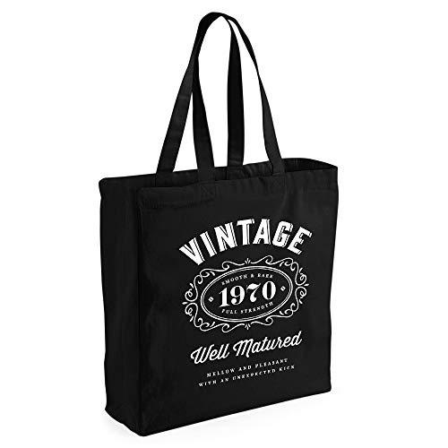 Tasche mit Aufdruck 1968, lustige Geschenkidee für Damen zum Geburtstag, als Einkaufstasche zu verwenden, stabile Markenqualität