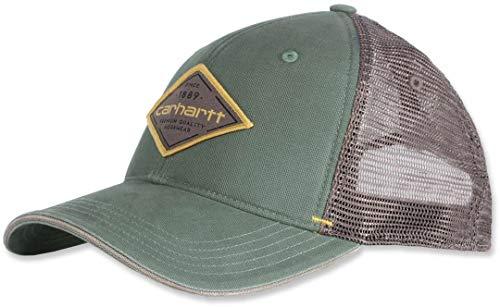 Carhartt Men's Force Mesh Back Graphic Cap, Musk Green, OFA