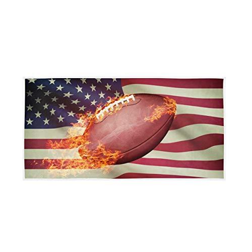 Gast Mehrzweck Hoch Absorbierende American Football USA Flagge Badetücher Hand Weiche Große Natur für Badezimmer Home Hotel Spa Gym Dekorativ