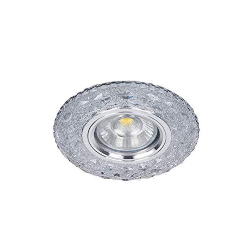 Deko Einbaustrahler mit LED 3W 4000k Stripe Neutralweiß Kristall integrierter Trafo 925774S/CL