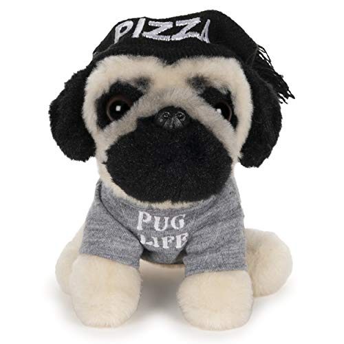 GUND Doug The Pug Pizza Hat Plush Stuffed Animal Dog, 5""