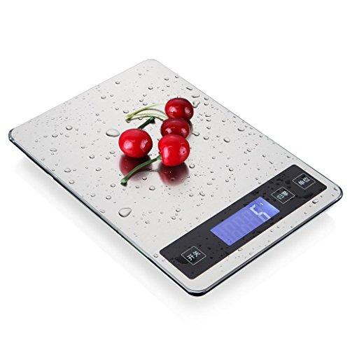 HUIJU Neue Edelstahl-Präzisions-Küchenwaage elektronische Waage Backen DIY Lebensmittel Skala 10 kg Skala Skalen sagte