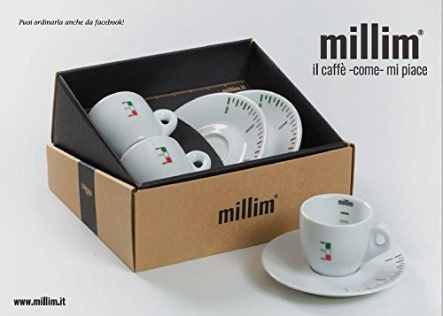 Koffiekopjes-set van porselein met smaak LIVELLO 2 kopjes + 2 schoteltjes Brevette