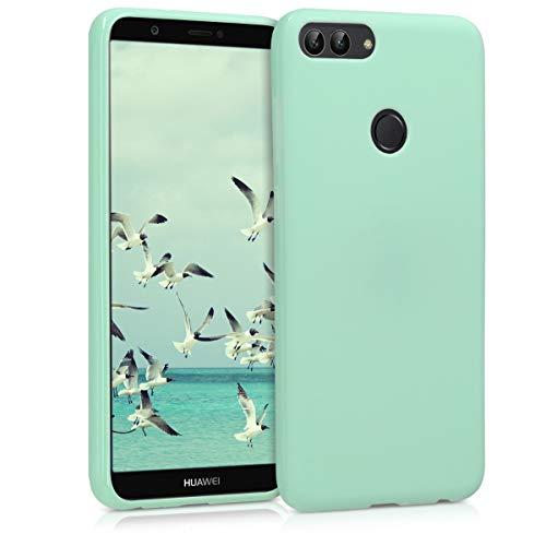 kwmobile Funda para Huawei Enjoy 7S / P Smart (2017) - Carcasa de TPU Silicona - Protector Trasero en Menta Mate