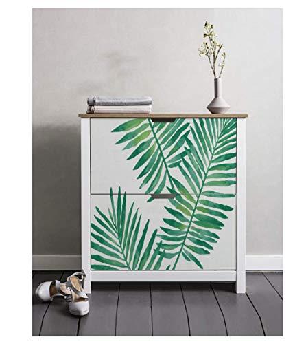 Papel de contacto Papel tapiz para pelar y pegar de palmeras tropicales, extraíble, vinilo blanco verde, adhesivo decorativo para pared autoadhesivo
