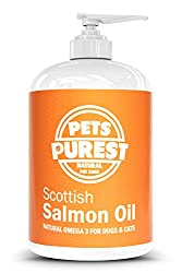 NO MORE ITCHY, DRY SKIN: This Pure Salmon Oil from Pets Purest is an all-natural fish oil supplement designed to help pets of all sizes look and feel great. Our liquid formula is capsule free so that it's easy to give to pets with their food. It has ...