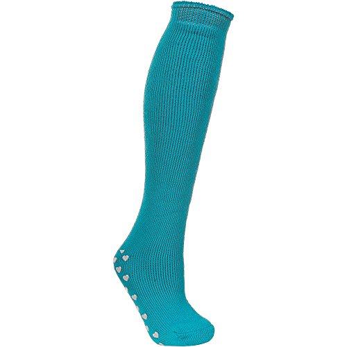 Trespass Damen Ski-Socken mit Herz-Noppensohle (Einheitsgröße) (Aqua)