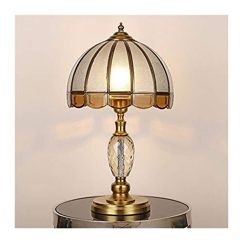 Todas las lámparas de mesa europeas de cobre LED E27 Dormitorio Estudiar Sala de estar Hotel Crystal Solder Table Lámpara de noche lámpara de noche (Color : B)
