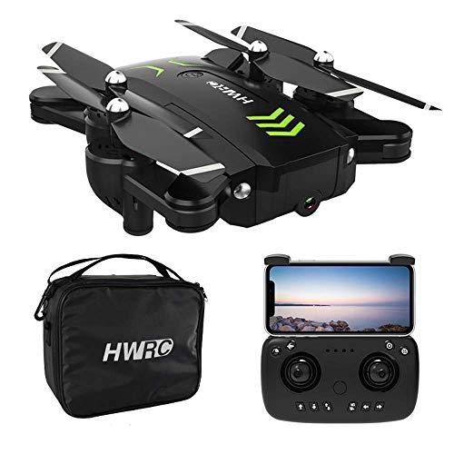 ZHCJH Drone GPS Pieghevole con videocamera 4K UHD per Adulti e Bambini, Follow Me, Video in Tempo Reale FPV WiFi, Posizionamento Automatico preciso GPS (Doppia Batteria)