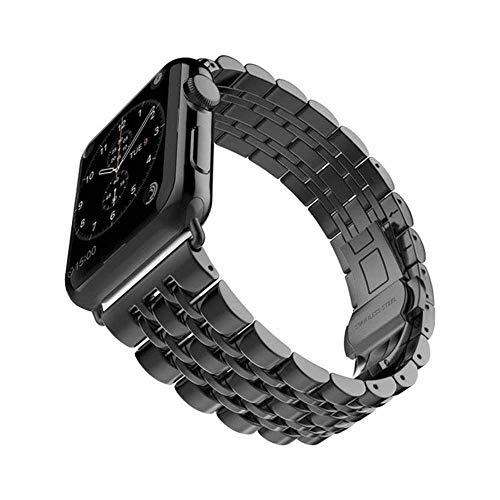LANGY Pulsera de eslabones de Acero Inoxidable para Apple Watch Strap Series 5 4 3 2 Correa de Repuesto Correa para la muñeca