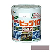 [A] アサヒペン [無臭]水性ビッグ10 多用途 ソフトなツヤ ウォームグレー 0.7L [水性多用途塗料]