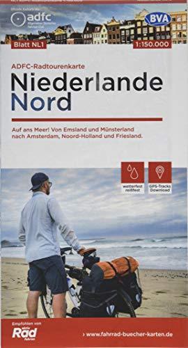 ADFC-Radtourenkarte NL 1 Niederlande Nord, 1:150.000, reiß- und wetterfest, GPS-Tracks Download: Auf ans Meer! Von Emsland und Münsterland nach Amsterdam, Noord-Holland und Friesland