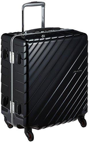 [ヒデオワカマツ] スーツケース フレーム ナロースクエア 軽量 無料預入 85-76520 保証付 55L 55 cm 3.9kg ブラック