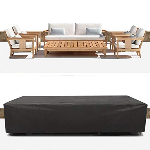 Meubles De Patio Extérieur Cover Set Canapé Set Couvre Table Et Chaises En Covers Résistant À L'eau Grand, Noir (Size : 270 * 180 * 89CM)