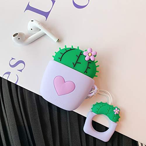 SevenPanda para Airpods 1 y 2 Estuche, Funda de Airpod de Silicona Suave de Dibujos Animados Divertidos 3D Lindos, Kawaii Fun Cool Catalyst Keychain Design Skin, Estuches de mosquetón Funda