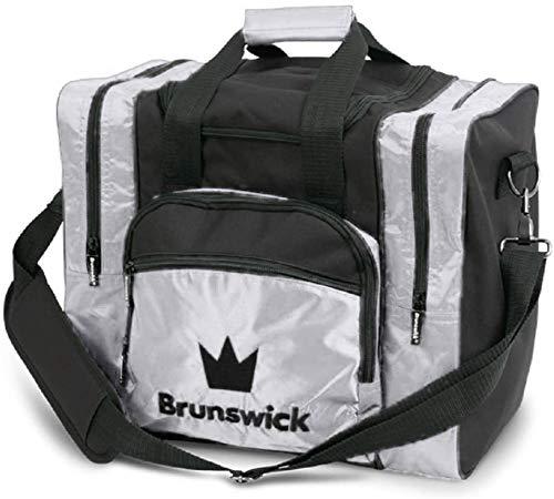 Brunswick Edge 1-Ball torba na 1 piłkę do kręgli, buty do kręgli i akcesoria do kręgli (srebrna)