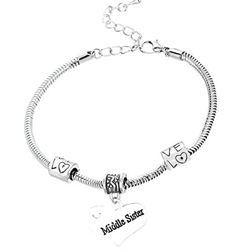 lffopt Mum Bangle Mother Daughter Bracelets Mum Gift Presents for Mum Gifts for Mum Gift for Mum Baby to Mummy Presents Mother and Daughter Bracelets Middle sis
