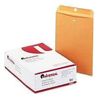 ユニバーサル® Claspクラフト封筒封筒、CLSP、10x 13,28# BN (パックof8)