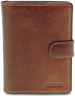 GIUDI ® - Porta passaporto in pelle vacchetta, custodia passaporto, vera pelle, portafoglio, portacarte, Unisex Uomo Donna...