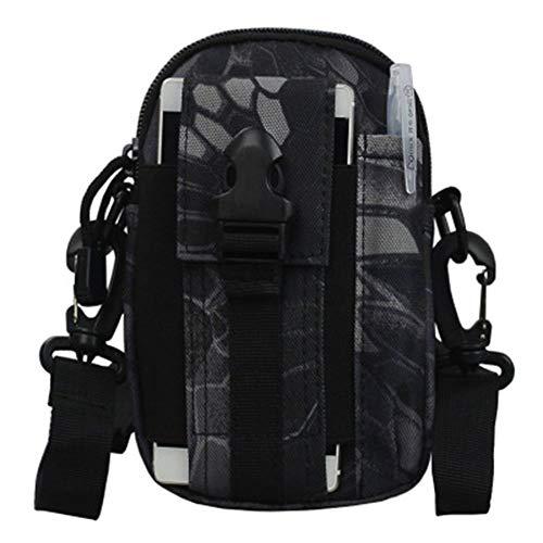 Bolsillos tácticos, bolsa de camuflaje, cinturón bolsillos al aire libre, deportes para correr y ocio teléfonos celulares, bolsa cruzada, capacidad de 1,5 l, 17 x 12 x 7 cm.