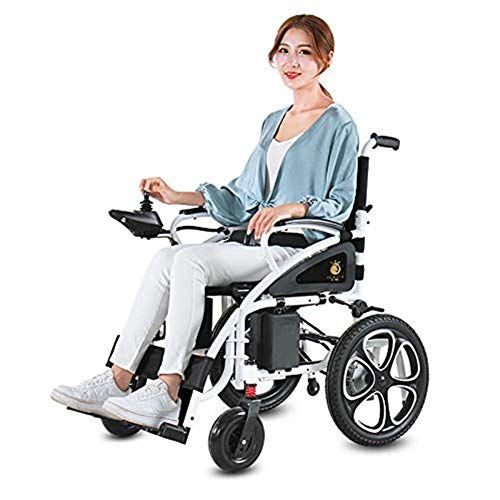 Inicio Accesorios Silla de Ruedas eléctrica para Personas Mayores con discapacidad Aprobada por la FDA Transport Frien Silla de Ruedas eléctrica Plegable Ligera para Adultos (Negro)