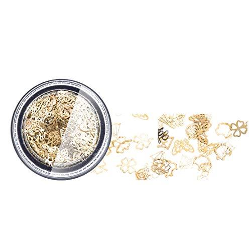 Creative Nail Metal Studs punte del chiodo Gioielli decorazione adesivi Arte con la corona del trifoglio del cuore di diamante per le unghie forme 3d di arte del chiodo 13g- 1PC