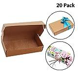 Cajas de Cartón Kraft para Regalos (Pack de 20) - Caja de Regalo 19 x 11 x 4,5cm Empaque Plano Automontable Apto para Fiesta, Boda, Galletas, Dulces y Joyas