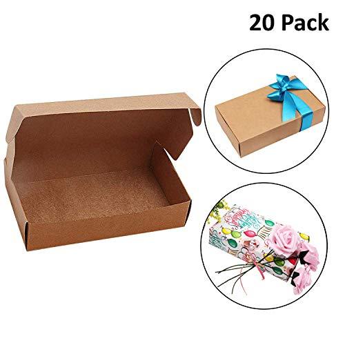 Cajas Cartón Kraft Regalos Pack 20 - Caja Regalo