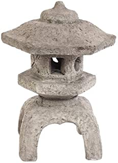 Solid Rock Stoneworks Medium Japanese Lantern- 22in Tall- Pre Aged Color