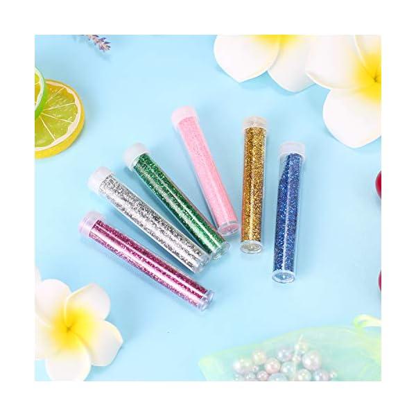 Stellaro Unicorn Slime Kit for Girls DIY Fluffy Unicorn Slime Making Kit, 30 Slime Kit Pieces Beads Unicorns Glitter… 5