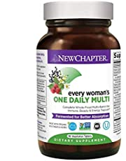 New Chapter Women's Multivitamin + Immune Support – Every Woman's One Daily Fermented with Whole Foods, biotics, Iron & B Vitamins - Organic Non-GMO - 96 Ct