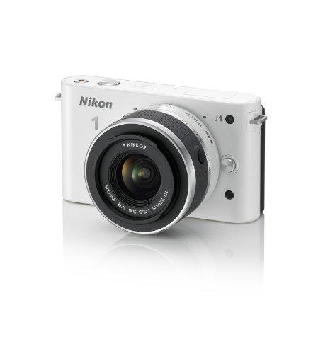 Nikon 1 J1 Digital Camera System with 10-30mm Lens (White) (OLD MODEL)