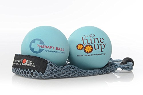 Read About Yoga Tune Up Jill Miller's Therapy Balls Pair with Mesh Tote, Aqua Blue