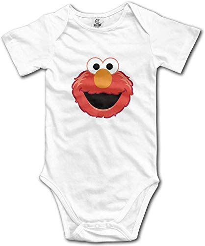 Dezzert030 Die Muppet Elmo Gesicht niedlichen Baby Kurzarm Strampler Strampler Strampler