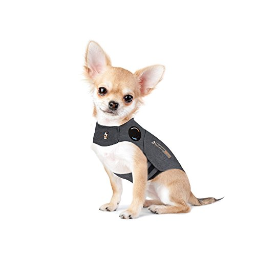 ThunderShirt Classic Dog Anxiety Jacket | Vet Recommended Calming Solution Vest for Fireworks, Thunder, Travel, & Separation | Heather Gray, XX-Small