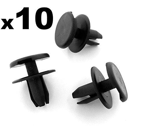 10x Pinces/Plastique Pare-chocs Avant Opel/Vauxhall, Astra, Signum, Vectra Rivets - 1406925/9130754 - LIVRAISON GRATUITE!