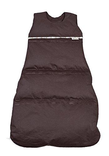 Premium Daunenschlafsack, längenverstellbar, Alterskl. ca 3-20 Monate, dunkelbraun, 80 cm