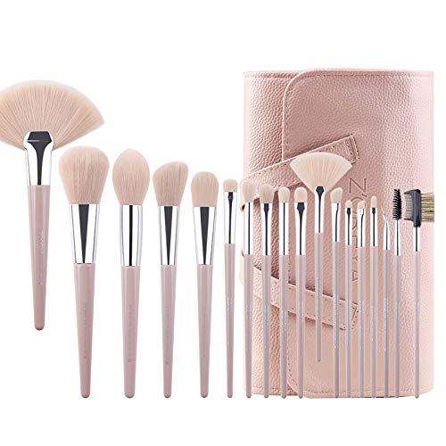 18Pcs Pinceaux De Maquillage Ensemble - Pinceau De Maquillage Professionnel Avec Poignée Pointue, Outil De Maquillage Pour Les Yeux Et Les Lèvres