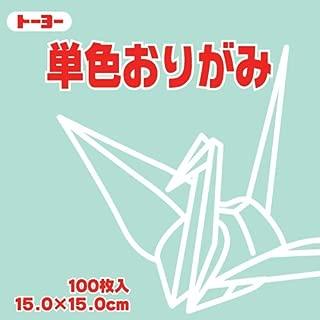 Toyo Origami Paper Single Color - Light Green - 15cm, 100 Sheet (1)
