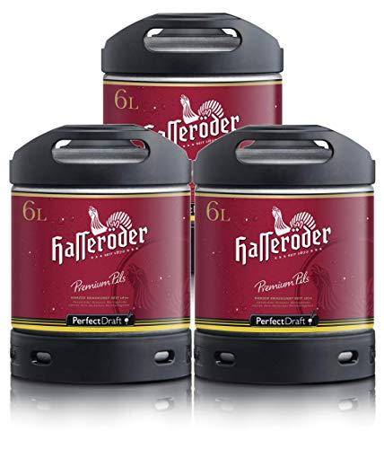 Bier PerfectDraft 3 x 6-Liter Fässer Bier. Zapfanlage für Zuhause. Inklusive 15euros Pfand. (Hasseröder)