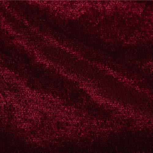MUYUNXI Tela De Terciopelo Suave para Coser De Chaquetas Decoración Decoración del Hogar Cortinas Tapicería Vestido Sillas 160 Cm De Ancho Vendido por Metro(Color:Vino Rojo)