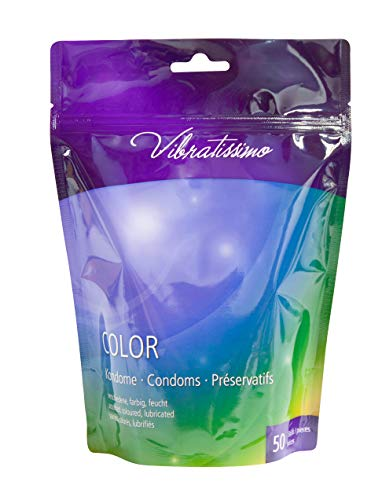 Paquete de 50 preservativos VIBRATISSIMO para una sensación auténtica, real y extra húmeda