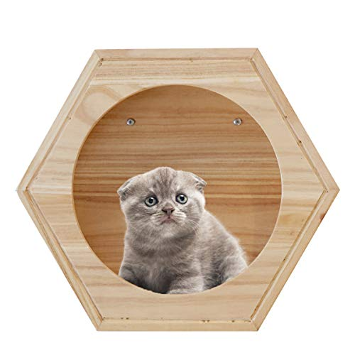 roomfitters Wall Mounted Cat Perch, Wooden Cat Furniture, Cat Bed, Cat Tree, Cat Climber Shelves