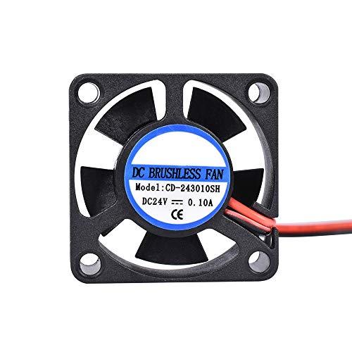 WBCMWH Piezas de Impresora 3D 5015 Ventilador de Ventilador 12V 24V 0.1A Ventilador de refrigeración Turbo 5CM 50x50x15mm 5015/4010/3010 5V Fans de plástico Negro para extrusora