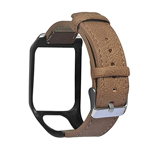 LYB Correa De Banda De Muñeca De Banda para Tomtom 2 3 Series Runner 2 3 Spark Series Golfer 2 Adventurer Watch (Color : Brown)