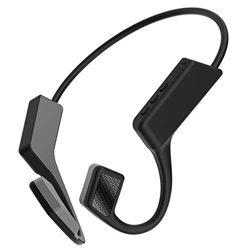 SH-RuiDu Auriculares de conducción ósea Auriculares inalámbricos con micrófono para deportes Fitness Running