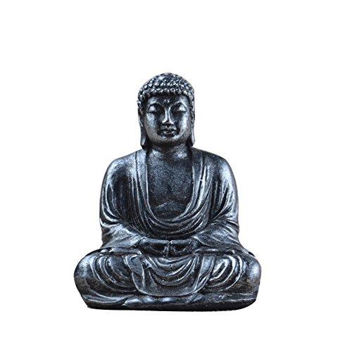 Lembeauty Buddha-Statue, buddhistisch, Figur aus Harz, Meditation, kleine Buddha-Figur, für den Garten, Heimdekoration, 7,5 cm