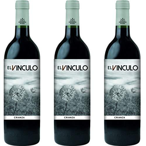 El Vinculo Crianza Vino Tinto Crianza - 3 botellas x 750ml - total: 2250 ml