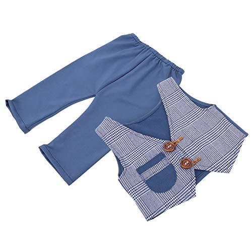 Baby Doll Clothes 2pcs / Set Fotografa de beb Accesorios de fotografa Fibra de polister para bebs(Denim Blue)